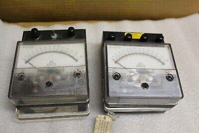 Westinghouse Ac Voltmeters 2 Pcs  Pa141 0-300 Volts Pa141 0-600 Volts