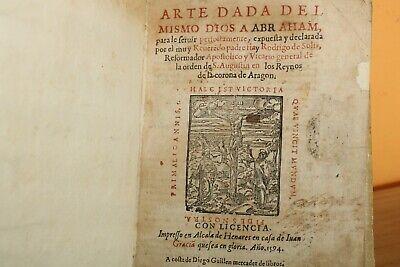 1594 / ARTE DADA DEL MISMO DIOS A ABRAHAM / PADRE FRAY RODRIGO DE SOLIS