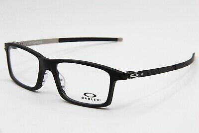 NEW OAKLEY OX8050-0153 SATIN BLACK PITCHMAN AUTHENTIC EYEGLASS FRAME RX 53-18