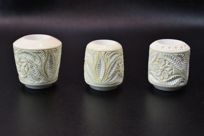 Ornate Billiard Bowl  For Falcon Pipes Block Meerschaum New Handmade W Case#1239