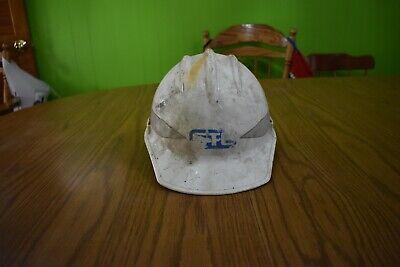 Vintage Bullard 302303 Hard Boiled White Hard Hat W Gte General Telephone Logo