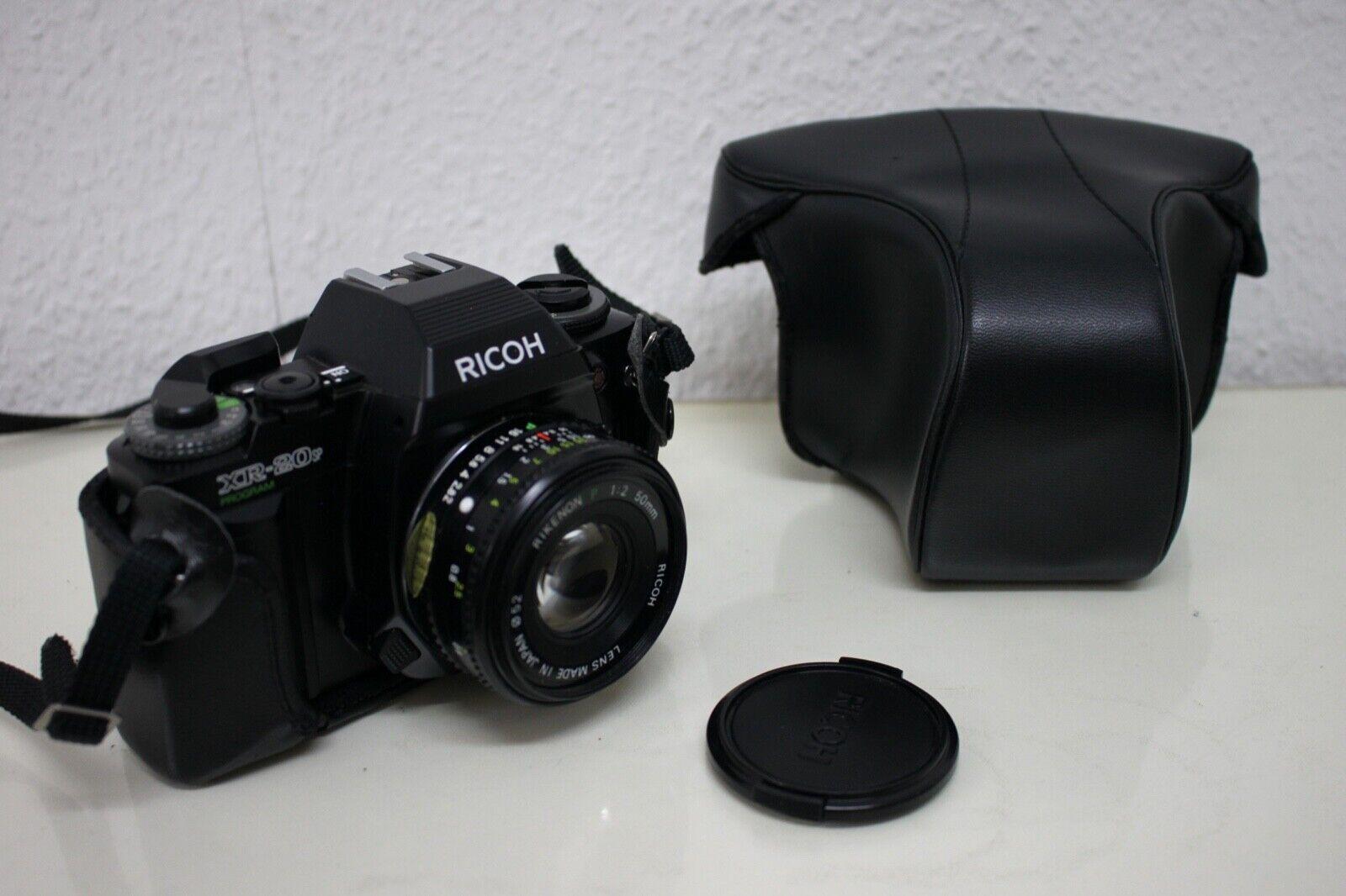 Ricoh XR-20SP Program Spiegelreflexkamera mit Rikenon 1:2 50mm Objektiv & Tasche