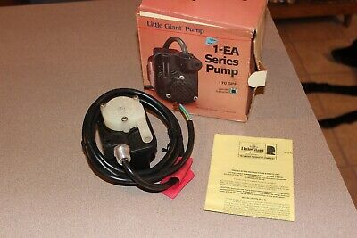 Nos Little Giant 1-eays - 170 Gph Submersible Parts Washer Pump Wo Plug