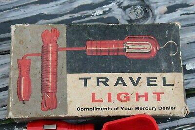 Vintage nos 1960' s MERCURY  accessories promo fomoco auto travel map lamp light