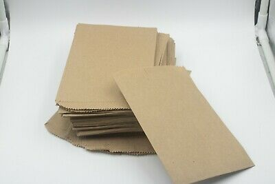 100 Brown Kraft Paper Bags for Jewelry Candy Party Favors Merchandising 5x7