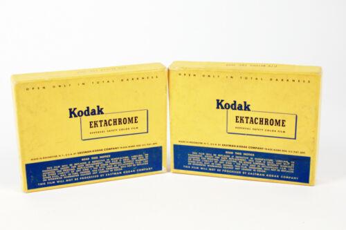 "Kodak Ektachrome 3 1/4"" x 4 1/4"" color film - 2 boxes / 20 sheets - expired"