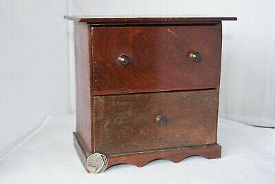 Antique Apprentice Piece Chest Of Draws 19x20cm