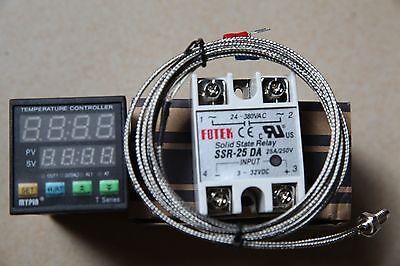 Digital Fc Pid Temperature Controller Thermostat Ta4-ssr 2m K Sensor 25a Ssr