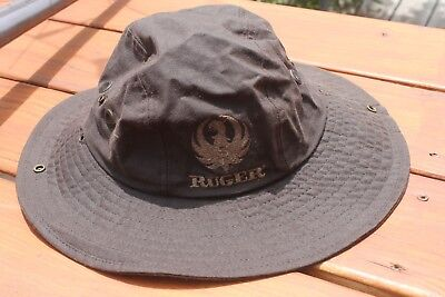 (STURM RUGER KHAKI BROWN HAT-LARGE - NEW W/O TAGS- RARE STYLE)