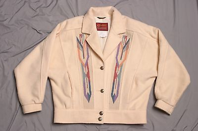 Pioneer Wear Chimayo Indian Blanket Coat golden collection Vintage Made In USA