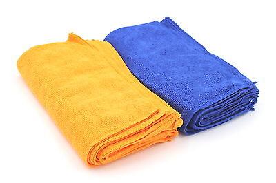 100 x Reinigungstücher 30x30cm Microfaser blau orange Mr. Maxx aus dem TV