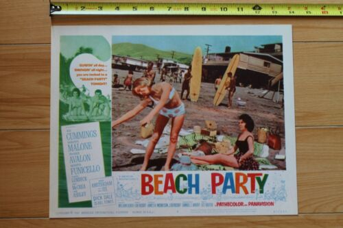 BEACH PARTY 1963 Frankie Avalon Annette Funicello Lithograph Lobby Movie POSTER