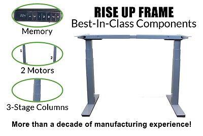 Adjustable Height Desk Legs Base Frame Dual Motor Electric Standing Desk