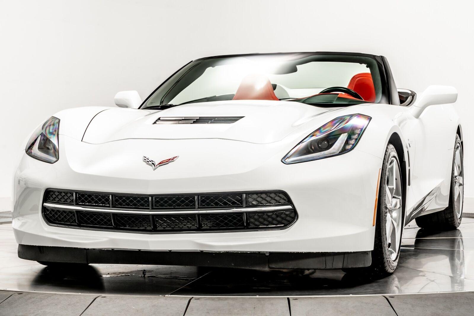 2015 White Chevrolet Corvette Convertible 3LT   C7 Corvette Photo 4
