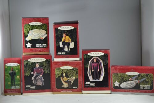 Lot1 7 various Star Trek Hallmark Ornarnaments