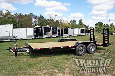New 2020 7 X 20 14k Rice Flatbed Utility Equipment Hauler Car Hauler Trailer