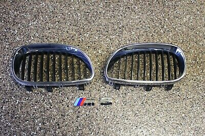 ✅04-07 BMW E60 525I 530I GRILLE INSERT VENT SET OEM PAIR used