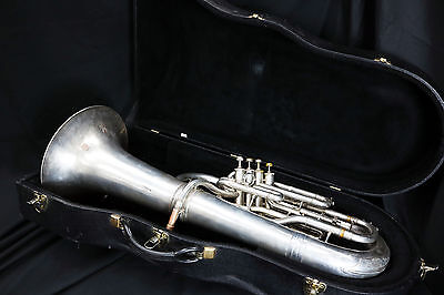 CONN Constellation EUPHONUIM 4 VALVE (DECENT SILVER FINISH w Patches) Plays Well