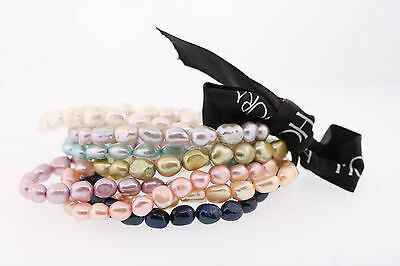 Honora 7-8mm Multi-color Genuine Cultured Baroque Pearl Bracelet Set of 8