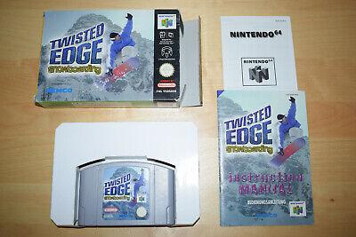 Nintendo 64 *Twisted Edge Extreme Snowboarding* N64 OVP CiB mit Anleitung Selten