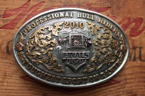 World Finals Sterling Silver Pro Bull Riders 2010 Trophy Cowboy Belt Buckle