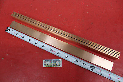 6 Pieces 18 X 1 C110 Copper Bar 14 Long Solid Flat Mill Bus Bar Stock H02