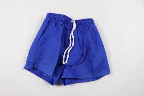 Vintage 90s New Sportcraft Youth Large Lined Nylon Gym Soccer Shorts Royal Blue