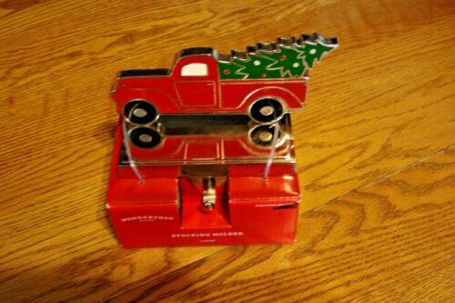 New Red Pickup Truck Christmas Stocking holder
