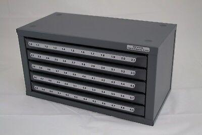 Huot Metric Drill Bit Sizes 1mm To 6.9mm Dispenser Organizer Cabinet - 13100