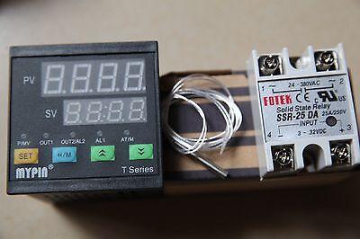 Dual Fc 72wx72hx80l Pid Temperature Controller Ta7-snr Pt100 Sensor 25a Ssr