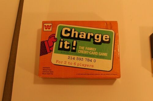 Vintage Whitman Charge It! Family Credit Card Game