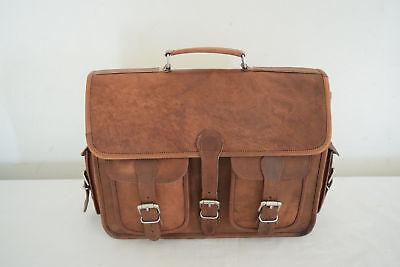 Weiche Leder Messenger Bag Computer Distressed Brown Satchel Aktentasche Männer ()