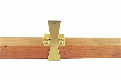 "Dovetail Marking Jig Marker Solid Brass 1"" Thick Slopes 1:5 & 1:8 DTSB5-8"