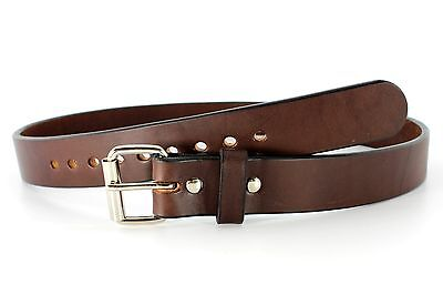 Concealed Carry Best Selling Gun Belt Brown Thick Full-Grain Leather 15oz