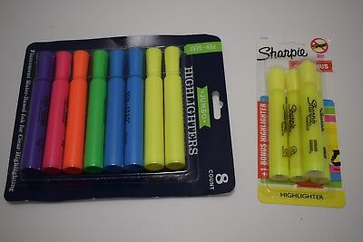 4 Pack Sharpie Highlighter 8 Pack Jumbo Multicolor Highlighter - Free Shipping