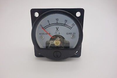 1pc Ac 0-20v Round Analog Ammeter Panel Amp Current Meter So45 Directly Connect
