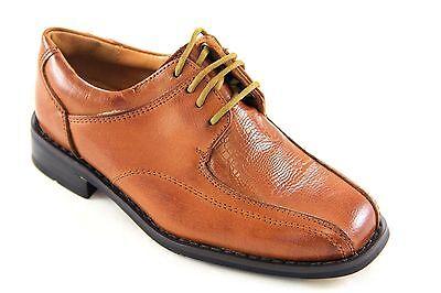 La Milano Boys Tan Genuine Leather Oxford Dress Shoes Style# AT922013 Boys Tan Leather