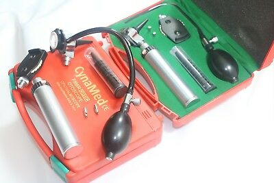 New Ent Diagnosticotoscopeophthalmoscope Set With Insufflator Bulb And Tube