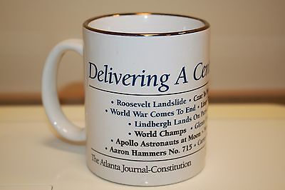 2000 The Atlanta Journal Constitution Coffee Mug A Century Of News Headlines B12