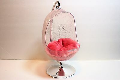 Barbie Bratz World Funky Fashion Fuzzy Retro Swing Hanging Egg Chair Furniture