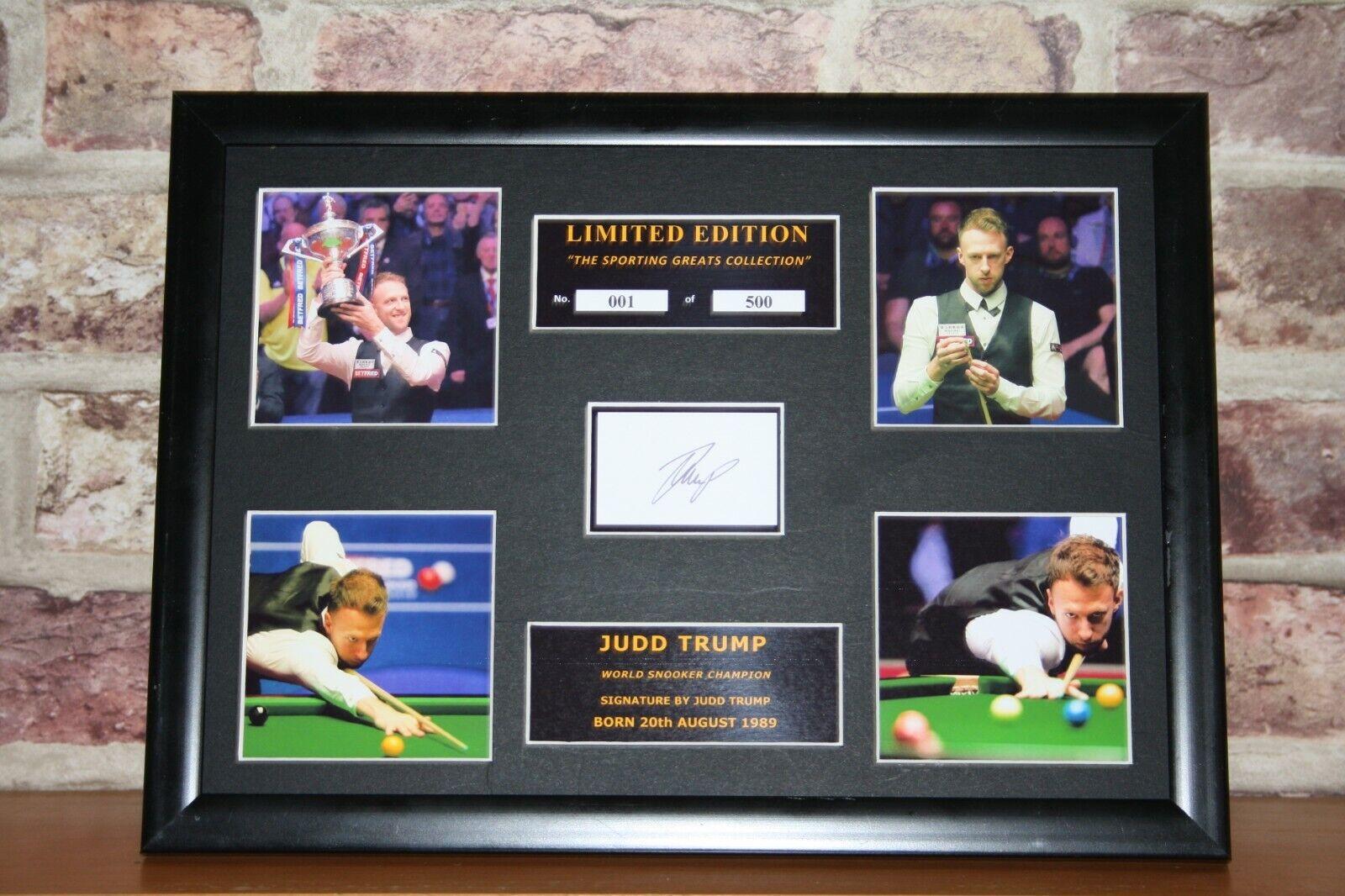 Judd Trump Signed Ltd Edition Framed Picture Memorabilia
