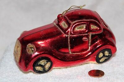 Vintage car ornament red  Mercedes?