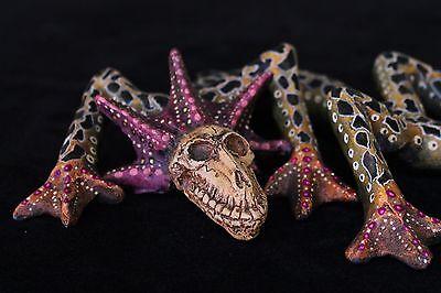 Dragon Skull Day of the Dead Mexican Folk Art Oaxaca Hand Made Jose Juan Aguilar