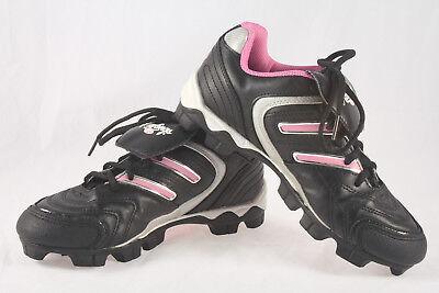 c8a76b9e409a Girls Rawlings Mudcat Base/Softball Cleats ~ Used & Clean ~ Blk Pink Slvr ~  Sz 6