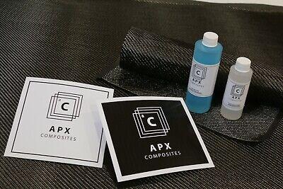 Real Carbon Fiber Fast Epoxy Uv Resin Kit 12 Oz - 2x2 Twill 200 Gsm 50 X 12