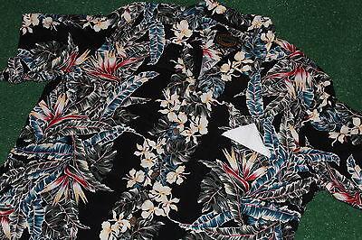 100% Rayon~Hawaiian Reserve Collection Shirt SIZE~XL Tiki-Dress-Beach Vintage