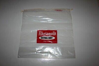 (3) Vintage Unused Rheingold Extra Dry Lager Beer Clear Plastic String Tie Bags