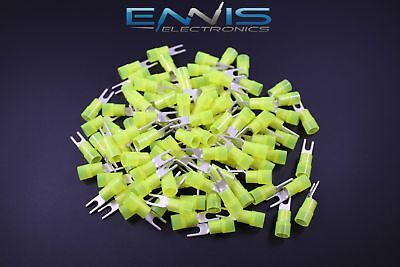 10-12 Gauge Nylon Spade 6 Connector 25 Pk Crimp Terminal Awg Electrical