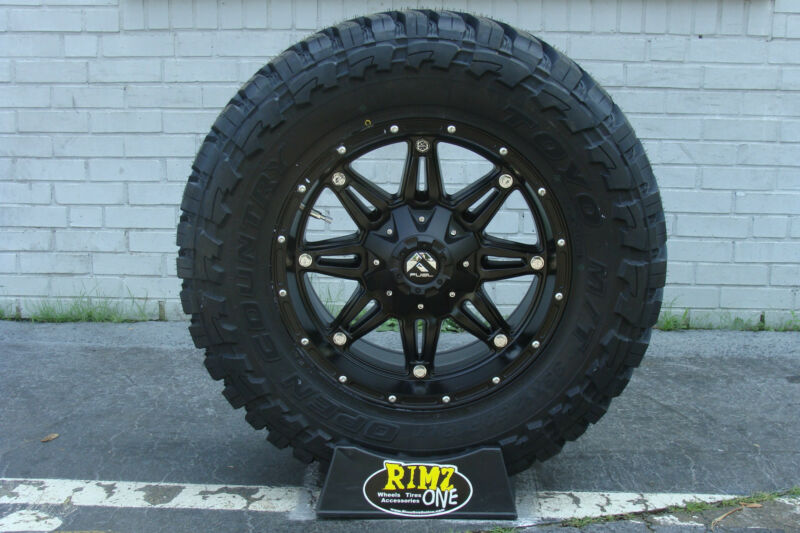 "18"" Fuel Off Road Hostage Black Toyo Mt 33x12.50r18 33"" Mud Tires Rimzoneonline"