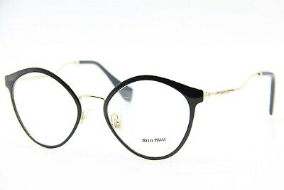 NEW MIU MIU VMU 52Q 1AB-1O1 BLACK EYEGLASSES AUTHENTIC FRAME RX VMU52Q (Miu Miu Eye Glasses)